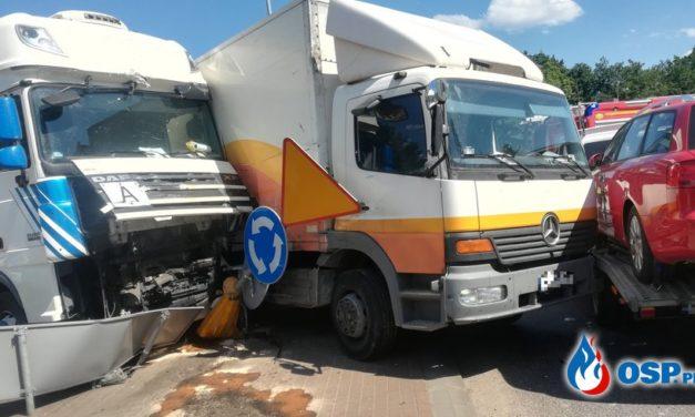 Zderzenie ciężarówek w Glinojecku