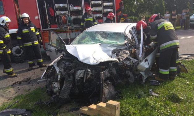 Groźny wypadek w Pawłowie