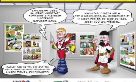 Warsztaty plastyczne z mistrzem ilustracji Rafałem Kado