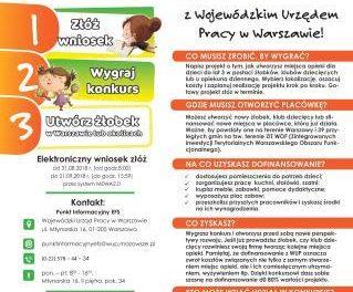 Otwórz żłobek, klub dziecięcy  z Wojewódzkim Urzędem Pracy w Warszawie!