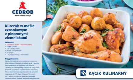 Kurczak w maśle czosnkowym z pieczonymi ziemniakami