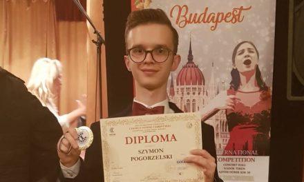 Szymon Pogorzelski ze złotym medalem w Budapeszcie