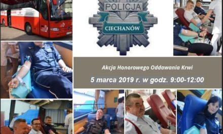 5 marca oddaj krew z policją