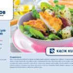 Wiosenna sałatka z chrupiącym kurczakiem