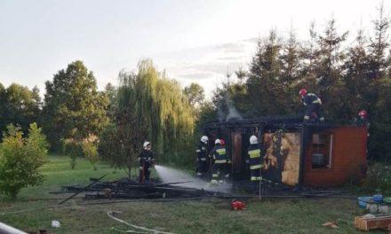 Pożar domku letniskowego w Kraszewie