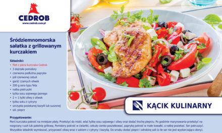 Śródziemnomorska sałatka z grillowanym kurczakiem