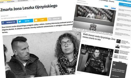 Zmarła żona Leszka Ojrzyńskiego