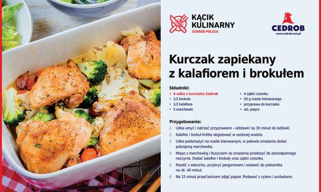 Zapiekany kurczak z kalafiorem i brokułem