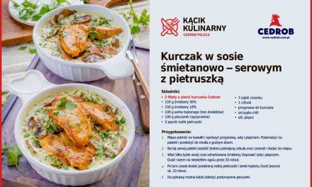 Kurczak w sosie śmietanowo — serowym z pietruszką