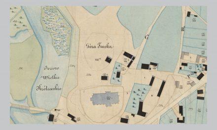 Plan Ciechanowa z 1851 roku wobec współczesnego centrum miasta