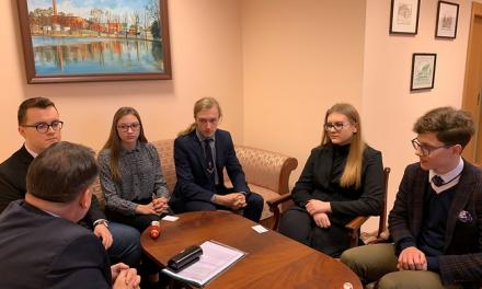 Uczeń I LO w Ciechanowie, Patryk Siuda w Młodzieżowym Sejmiku