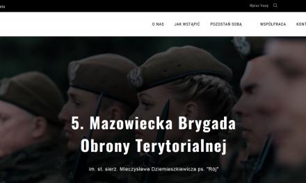 Strona www mazowieckich Terytorialsów już gotowa