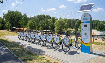 Opinogórska stacja Ciechanowskiego Roweru Miejskiego