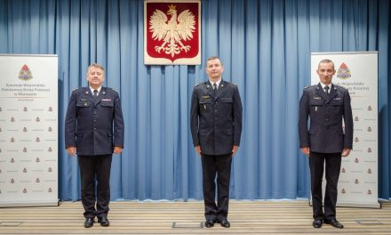 Mł. bryg. Tomasz Gajewski nowym komendantem ciechanowskich strażaków