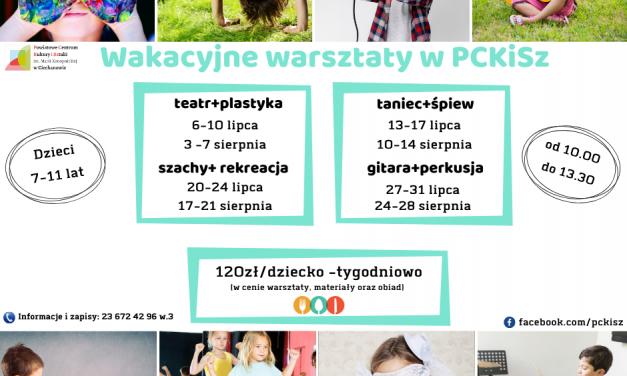 PCKISZ zaprasza na wakacyjne zajęcia