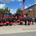 Minister i Komendant z wizytą u strażaków