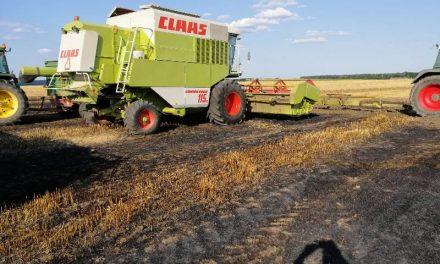 Gmina Grudusk: Pożar podczas żniw