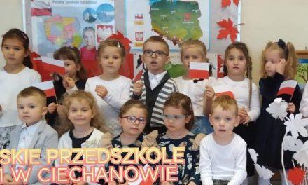 Święto Niepodległości w Miejskim Przedszkolu nr 1 w Ciechanowie