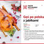 Gęś po polsku z jabłkami