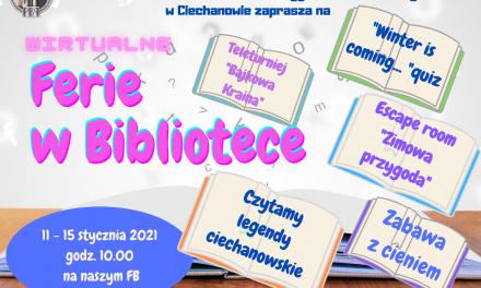 Wirtualne ferie w Bibliotece Powiatowej