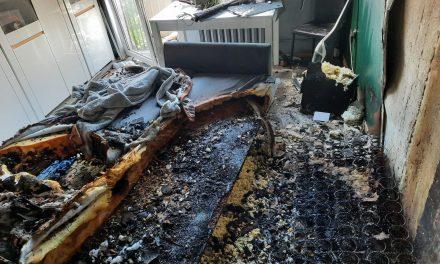 Pożar w mieszkaniu przy pl. Kościuszki