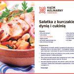 Sałatka z kurczakiem, dynią i cukinią