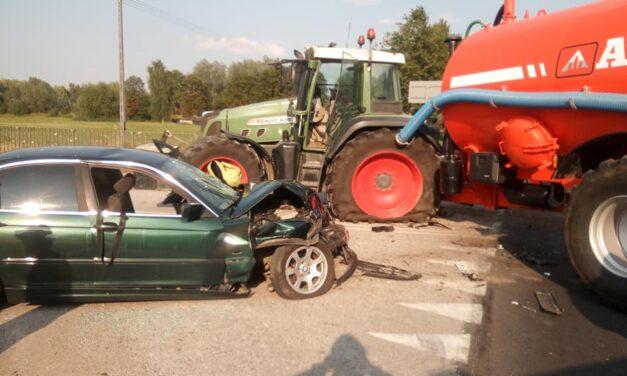 Pawłowo:BMW w beczkowóz (zdjęcia)