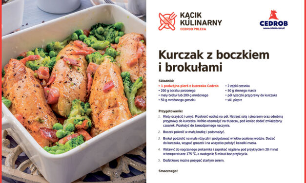 Kurczak z boczkiem i brokułami
