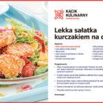 Lekka sałatka z kurczakiem na ostro